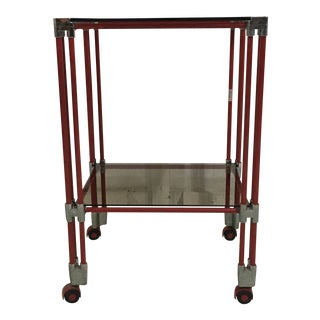 Red Italian Bar Cart For Sale