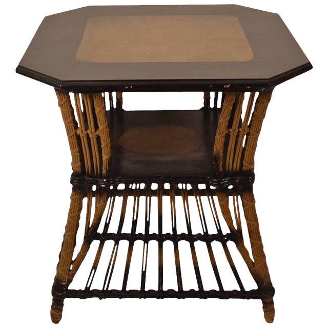 Art Deco Wicker Table For Sale