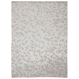 Contempoary Area Rug in Silk and Wool by Carini, 10'x13' For Sale