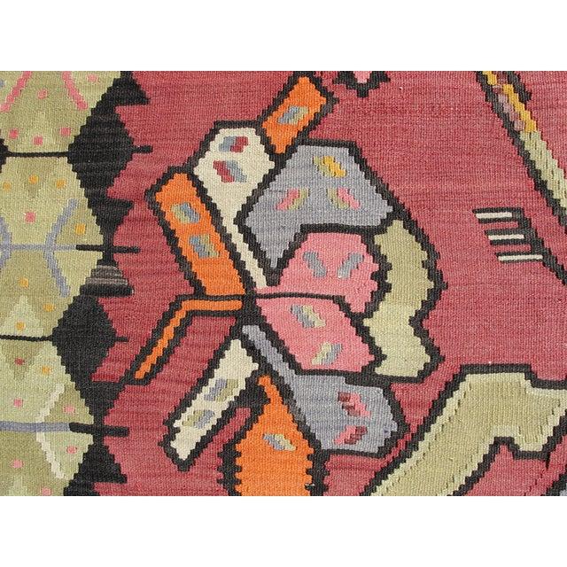 Textile Vintage Turkish Kilim Rug - 7′1″ × 10′11″ For Sale - Image 7 of 11