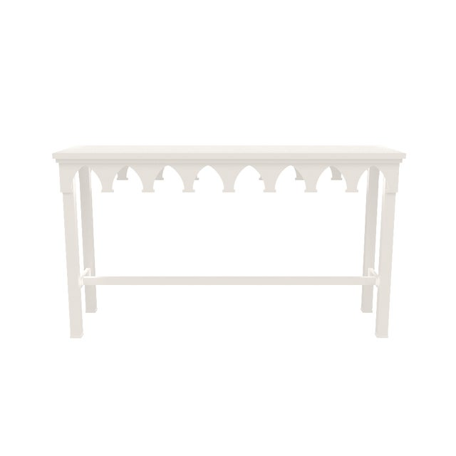 Metal Oomph Ocean Drive Outdoor Console Table, White For Sale - Image 7 of 8
