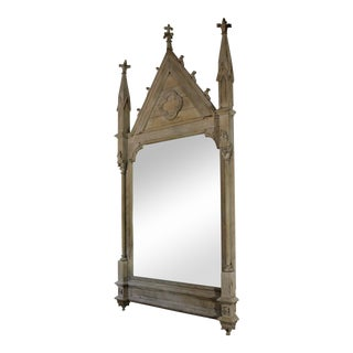 19th Century French Gothic Mirror For Sale
