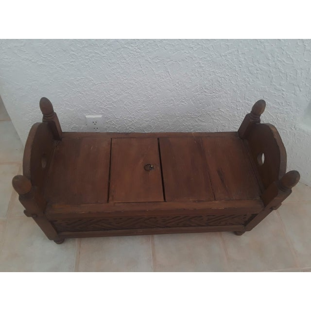 Teak Indonesian Jodang Teak Wood Table For Sale - Image 7 of 8