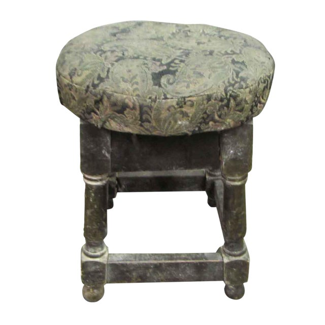 Paisley Print Low Stool For Sale