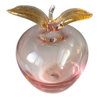 Vintage Murano Glass Apple