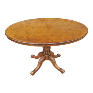 19th Century English Walnut Dining Table For Sale