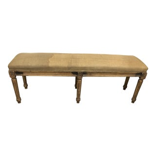 Vintage French Giltwood Long Bench