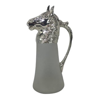 Silver Plated Horse Motif Claret Jug