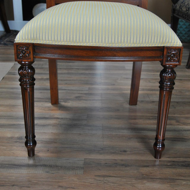Niagara Furniture Carved Empire Upholstered Side Chair For Sale - Image 11 of 13