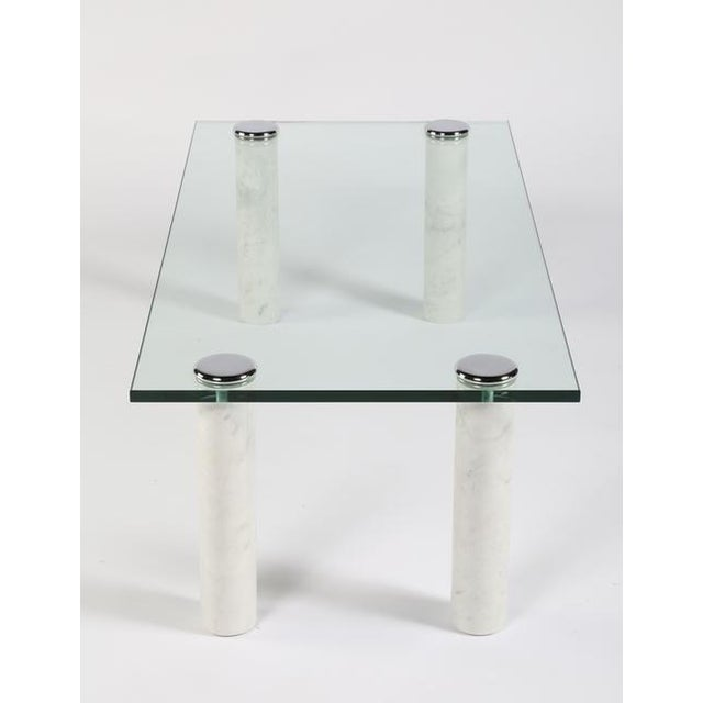 Hollywood Regency PACE MARBLE AND GLASS COCKTAIL TABLE For Sale - Image 3 of 7