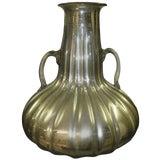 Image of 1970s Vintage Mid-Century Mercury Glass Vase For Sale