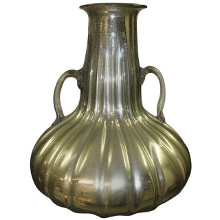 1970s Vintage Mid-Century Mercury Glass Vase For Sale
