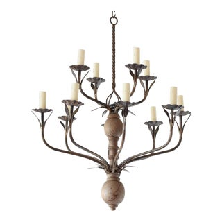 Mid 20th Century Rustic Flemish Chandelier For Sale