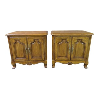 1970s French Country Heritage Nightstands - a Pair For Sale