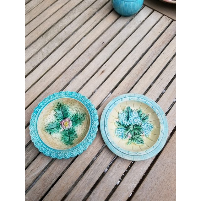 French Majolica Small Plates - a Pair For Sale - Image 10 of 10