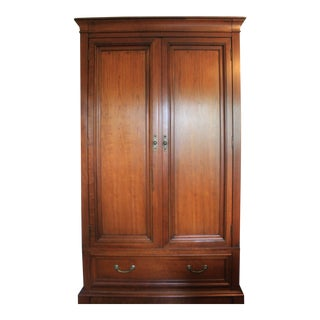 Ethan Allen Cherry Wood Armoire For Sale
