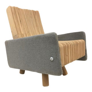 Custom Plywood Lounge Chair For Sale