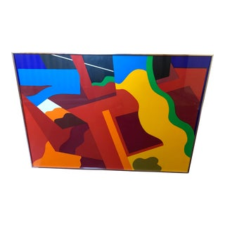 Bold Abstract Signed Serigraph, 1969 For Sale
