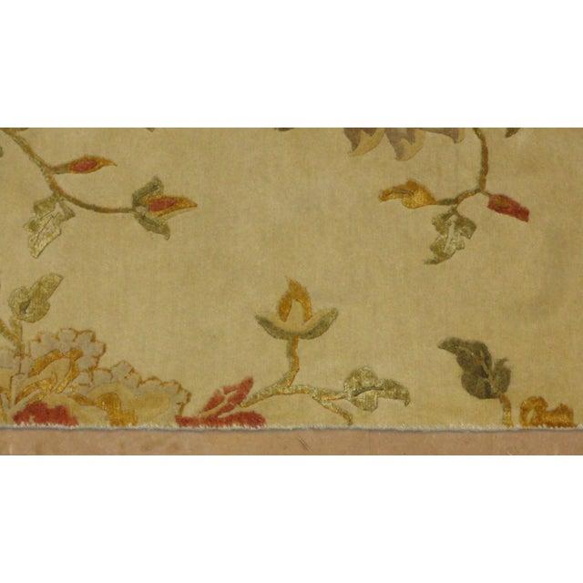 """Nepalese Silk & Wool Rug - 8'5"""" x 5'6"""" - Image 3 of 4"""
