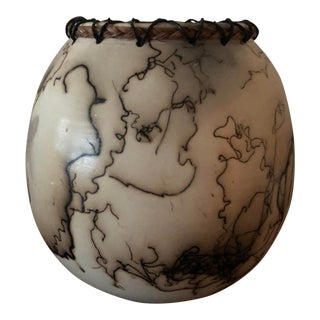 Horse Hair Pottery With Lacing For Sale
