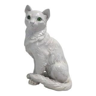 Italian Terracotta Cat Figure For Sale