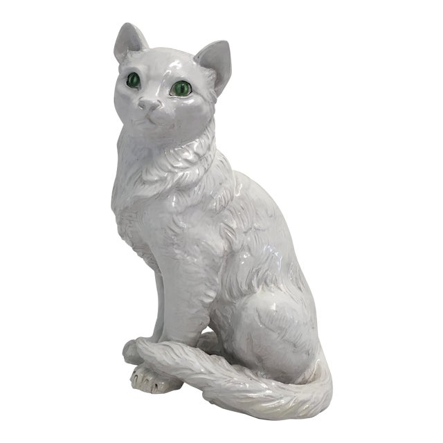 Italian Terracotta Cat Figure For Sale