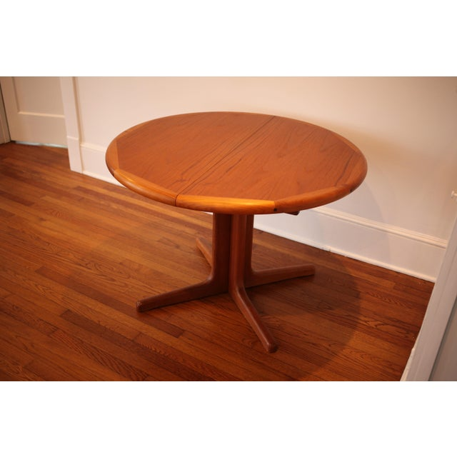 Solid Teak Round to Oval Dining Table - Image 3 of 10