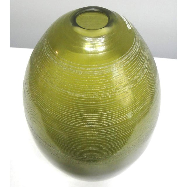 Barbini Murano Glass Vase Offered for sale is a large Barbini Murano glass vase. Alfredo Barbini, a glass artist born in...