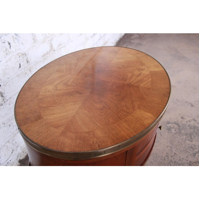 Late 20th Century Baker Furniture French Regency Mahogany and Brass Side Table For Sale - Image 5 of 13