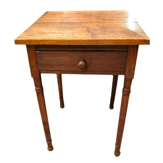 19th Century Traditional Carved Maple Side Table For Sale