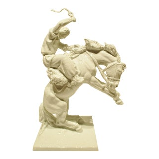 Very Rare Rosenthal Porcelain Horse and Rider Sculpture by Jose Belloni C. 1970s For Sale