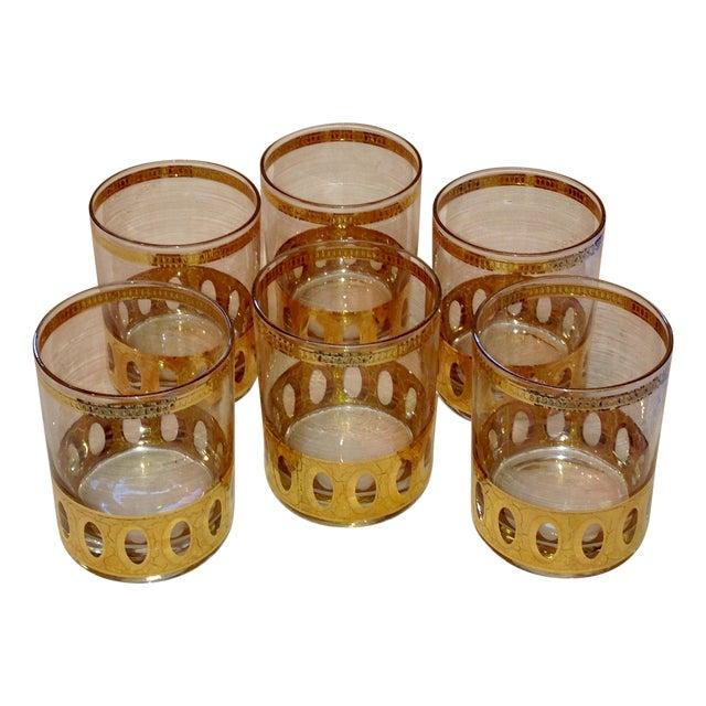 Culver Gold Cased Rocks Glasses - Set of 6 - Image 1 of 4