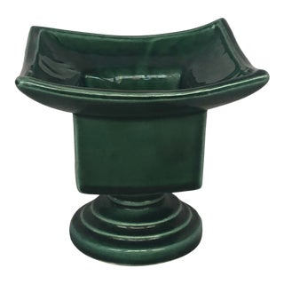 Vintage 1940s Art Deco Asian Pagoda Pottery Planter for Flowers or Plant For Sale