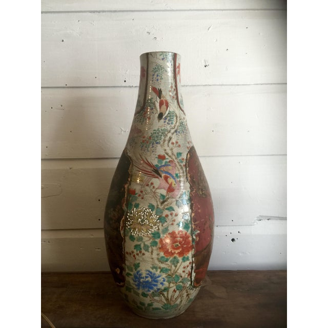 Antique Plaster Relief Chinese Vase - Image 2 of 5