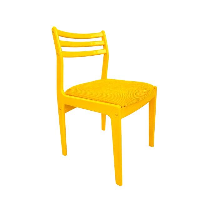Mid-Century Modern Mustard Yellow Chairs Upholstered ...