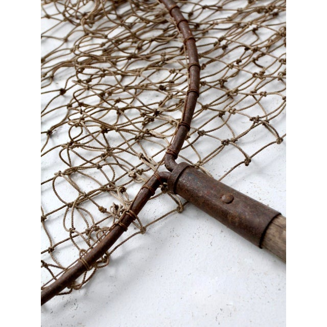 Antique Pole Fishing Net For Sale - Image 6 of 9