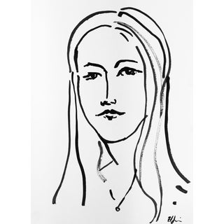 Portrait of a Girl #3 Drawing by Heidi Lanino For Sale