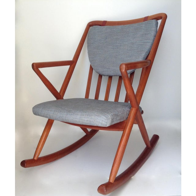 Benny Linden Danish Mid-Century Teak Rocking Chair For Sale - Image 10 of 11