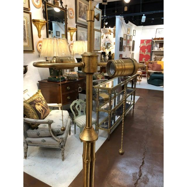 Gilt Metal Bamboo Floor Lamp by Circa Lighting For Sale - Image 10 of 13