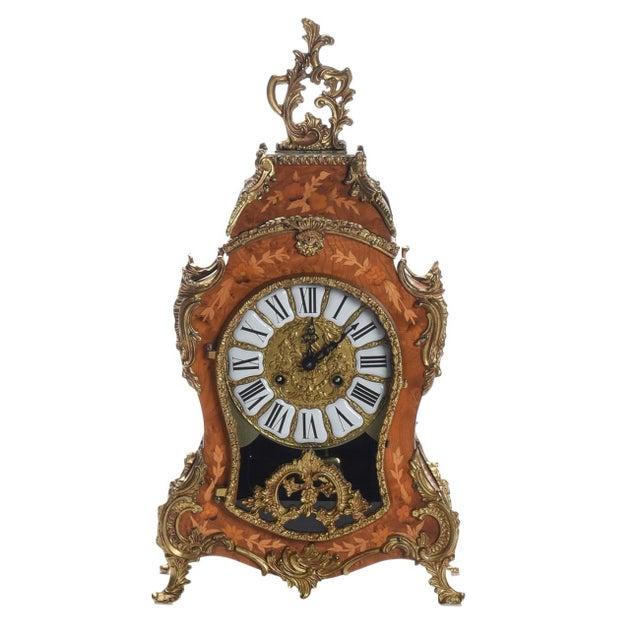 Metal Louis XV Rococo Mantel Clock ,1900's For Sale - Image 7 of 7