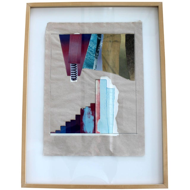Printmaking Materials Mid-Century Modern Rauschenberg Signed Abstract Print Dated 1970s Numbered For Sale - Image 7 of 7