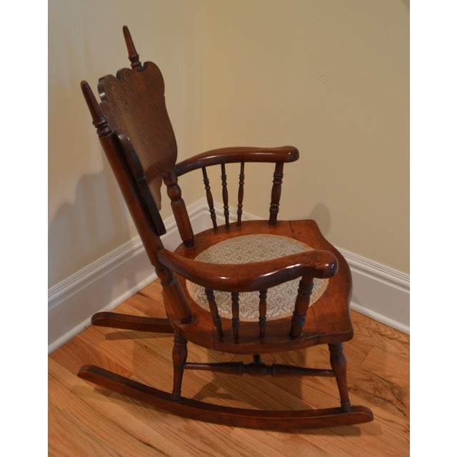 Late 19th Century Child's Antique Victorian Rocking Chair For Sale - Image  5 ... - Child's Antique Victorian Rocking Chair Chairish