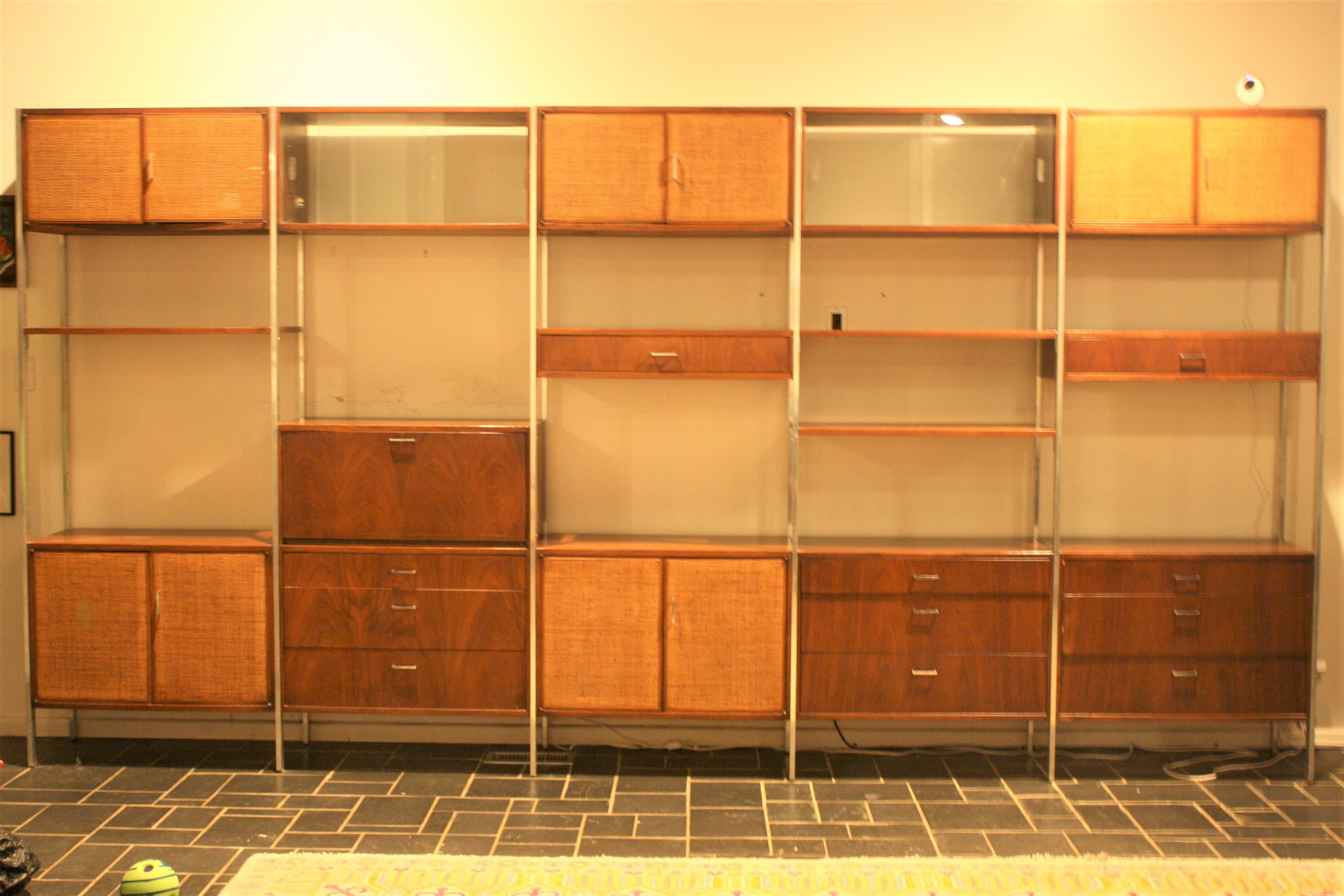 Founders Furniture Company Mid Century Modern Floating Wall Unit Image
