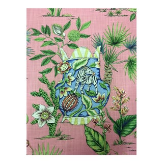 Thibaut Tropical Fantasy Pink Multi-Purpose Fabric - 5.25 Yards For Sale