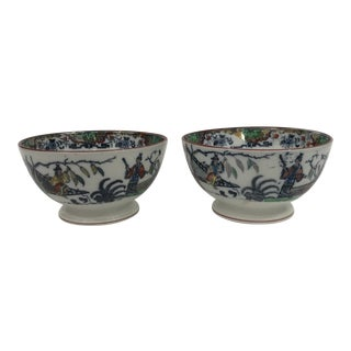 Antique Chinoiserie Porcelain Bowls - a Pair For Sale