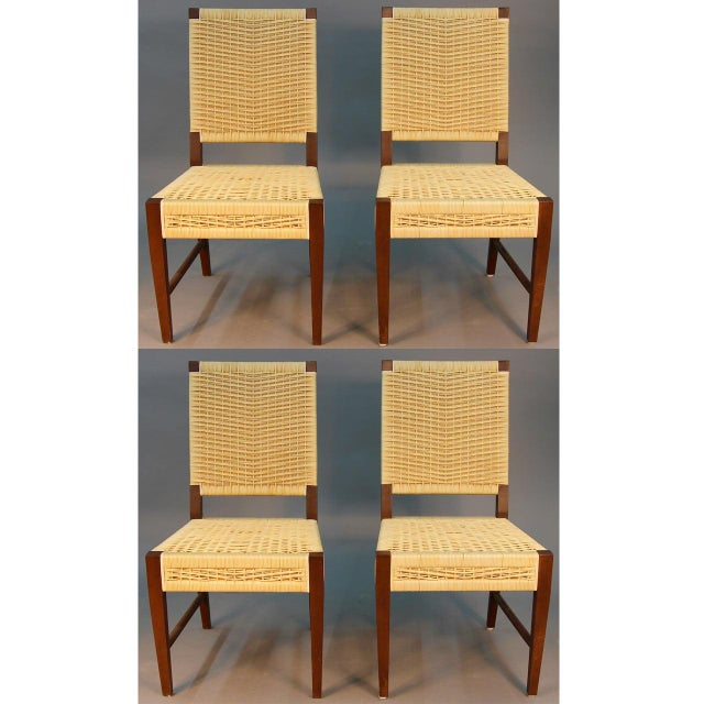 Donghia Dining Chairs with Merbau Wood - Set of 4 - Image 2 of 9