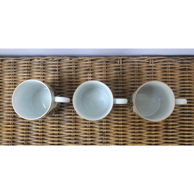 Tan Fitz and Floyd for Neiman Marcus Shell Motif Espresso Demitasse Cups - Set of 3 For Sale - Image 8 of 11