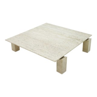 Large Travertine Coffee Table 1960s For Sale