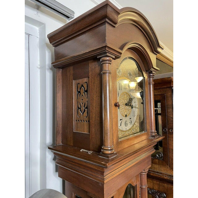 """Antique Waterbury Grandfather Clock - """"801 Hall Chime Clock"""" Model For Sale - Image 11 of 13"""