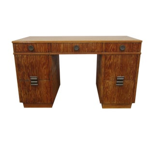 1960s Mid-Century Modern Paul Frankl for Brown Saltman Combed Wood Desk